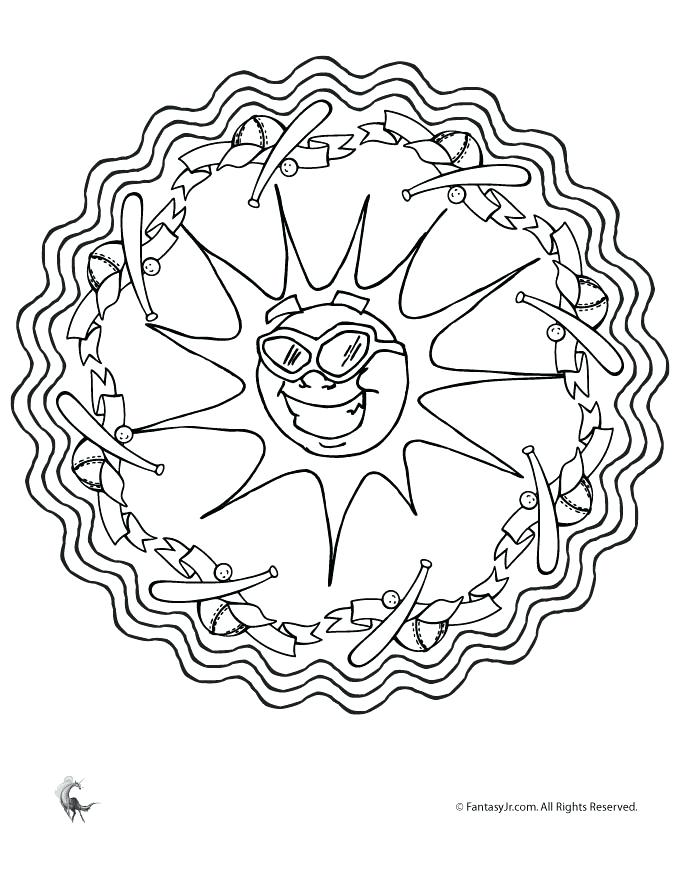 680x880 Mandala Art Colouring Pages Summer Mandalas Summer Mandala