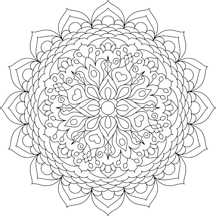 736x736 Mandala Color Pages Flower Mandala Coloring Pages Images Flower