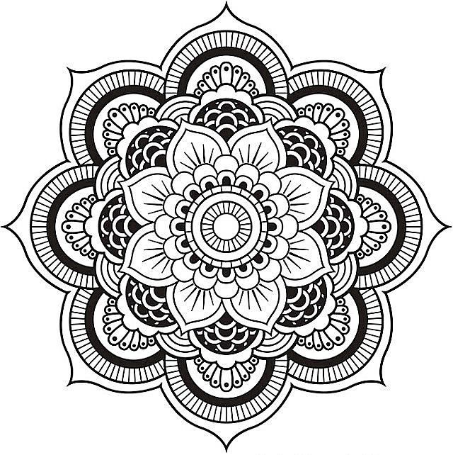 640x642 Mandala Coloring Pages Let Your Artistry Shine Brighter