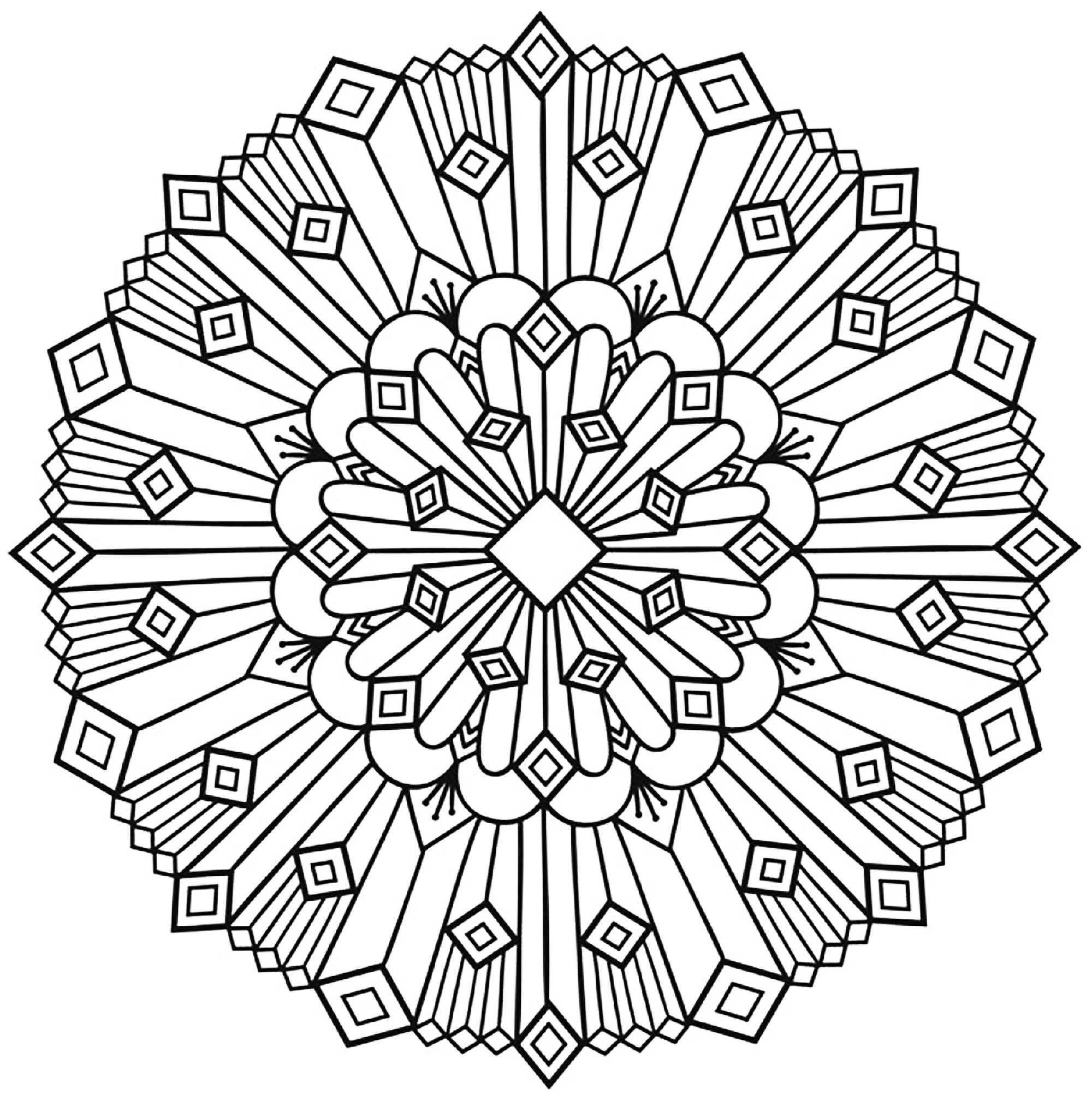 2000x2017 Mandala Art Deco Simple