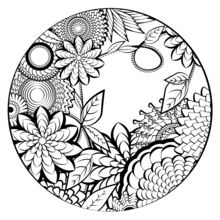 220x220 Mandala Coloring Page Coloring Pages