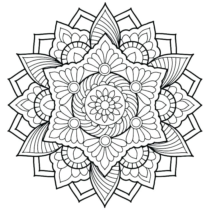 736x736 Online Mandala Coloring Pages Mandala Art Coloring Pages Hard Kids