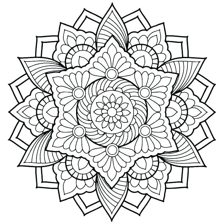 Mandala Art Coloring Pages At Getdrawings Com Free For Personal