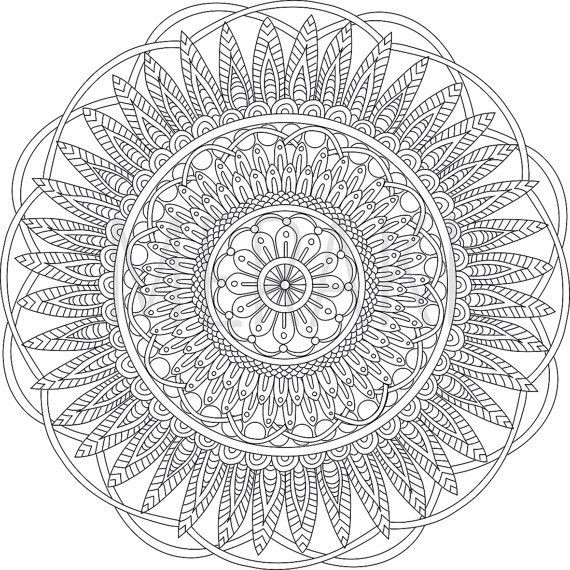 570x570 Abstract Coloring Pages For Adults Fresh Digital Mandala Art