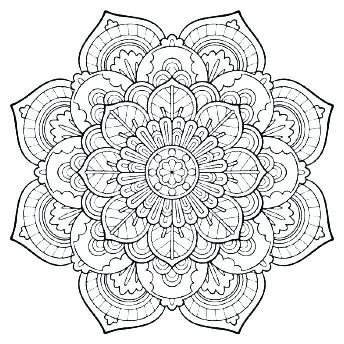 687x687 Expert Mandala Coloring Pages Gallery For Mandala Coloring Pages