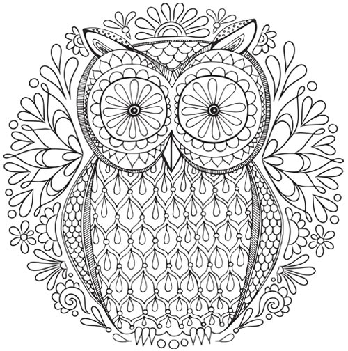 500x504 Free Mandala Coloring Pages