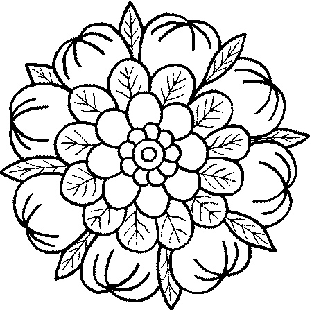 450x450 Free Printable Mandala Coloring Pages For Adults
