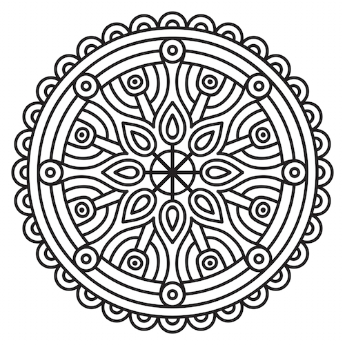 500x500 Mandala Coloring Pages Mandalas For The Soul In Decorations