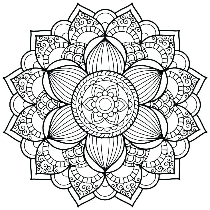 736x736 Mandala Coloring Pages Online Throughout Mandalas Inspirations
