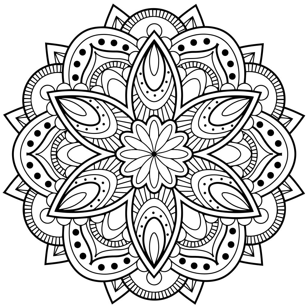 1024x1024 Mandala Coloring Pages For Adults For Android, Ios And Windows