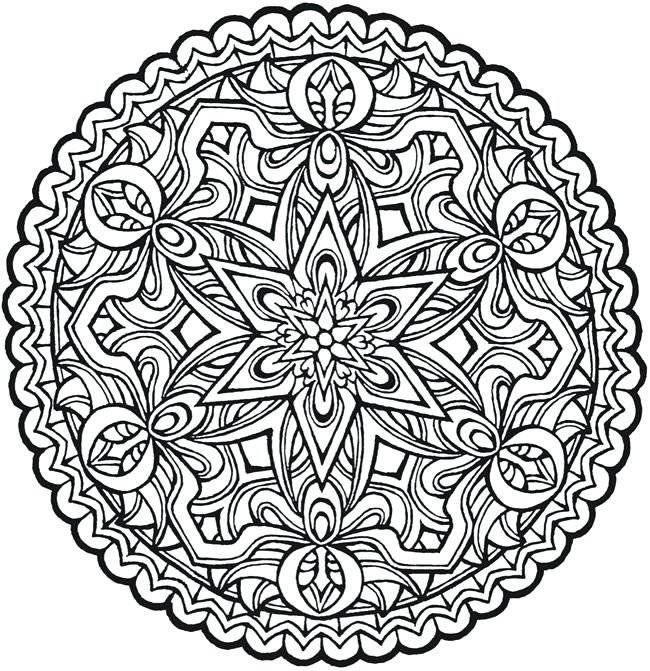 650x671 Mandalas Coloring Pages For Adults