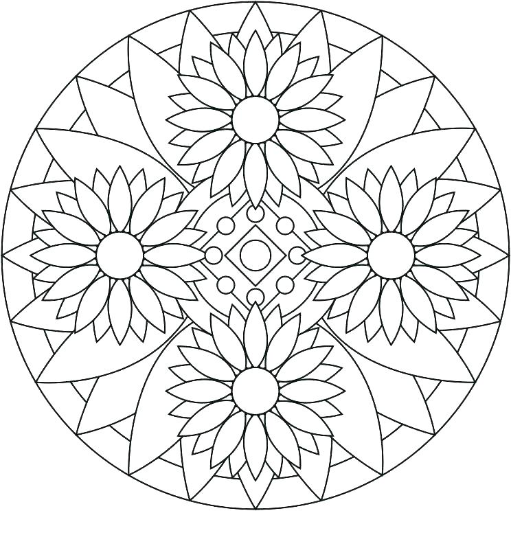 744x779 Printable Mandala Coloring Pages For Adults Mandala Coloring Pages