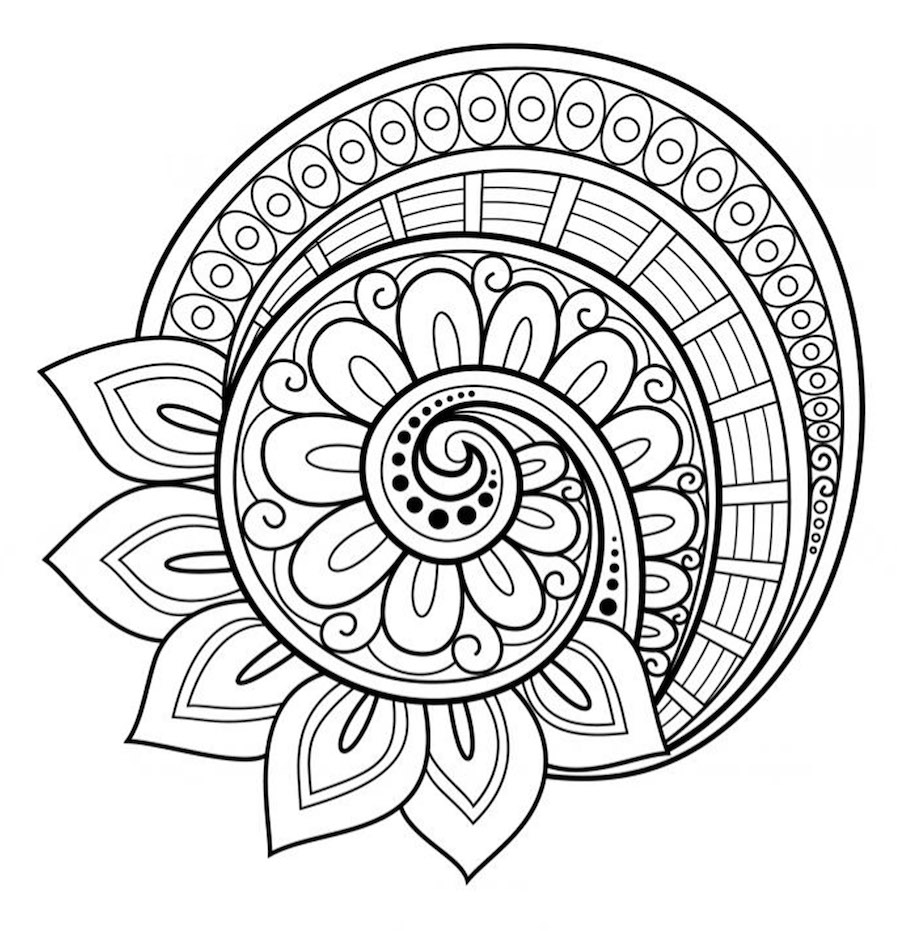 Mandala Coloring Pages At Getdrawings Com Free For Personal Use