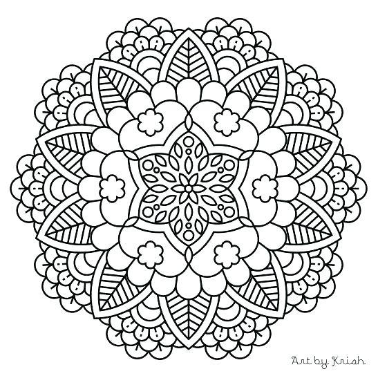 547x547 Mandala Coloring Pages For Kids