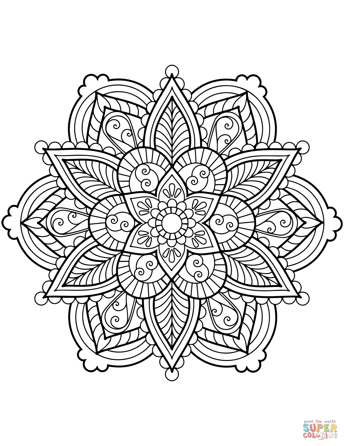1159x1500 Mandala Coloring Pages Free Coloring Pages Intricate Mandala