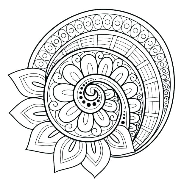 618x632 Advanced Mandala Coloring Pages Also Awesome Abstract Coloring