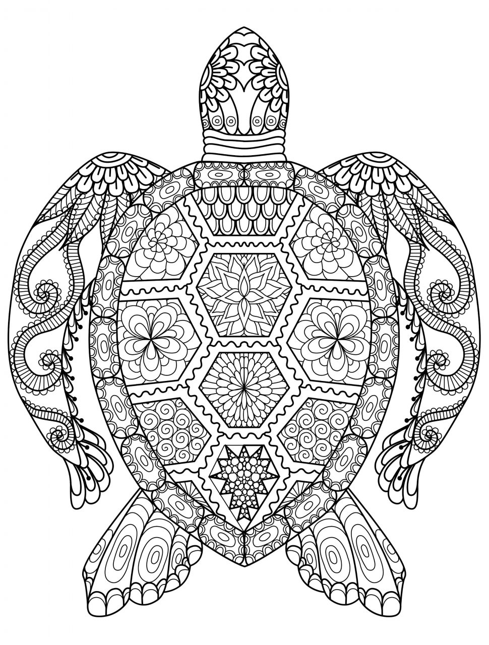 970x1280 Animal Mandala Coloring Pages Printable Adult Book For Inside