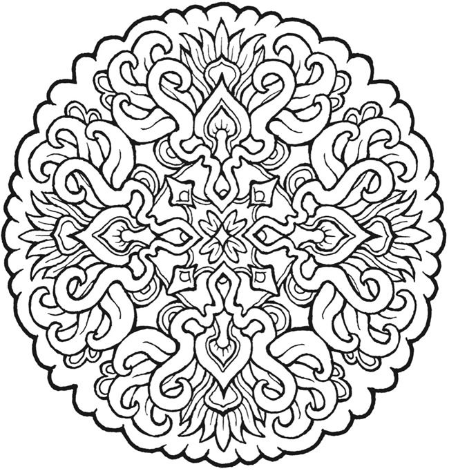 650x682 Best Adult Mandala Coloring Pages Free Printable
