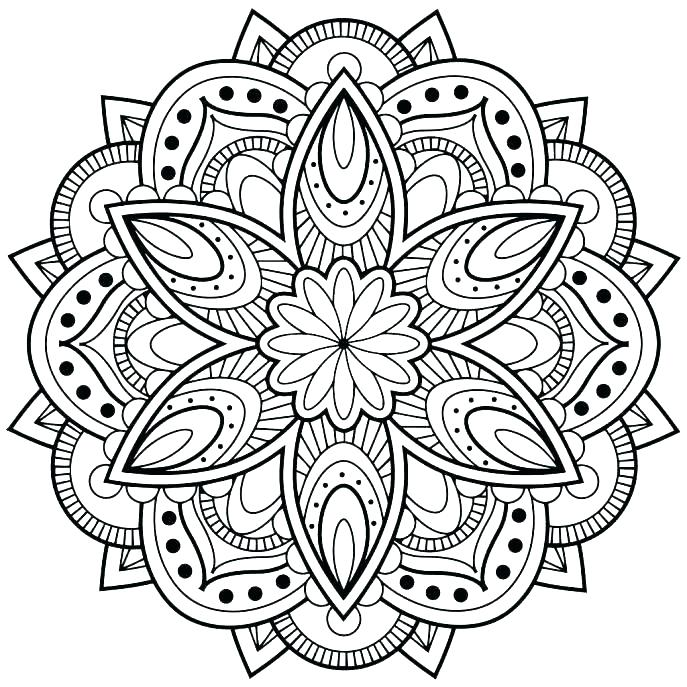 687x687 Free Mandala Coloring Pages As Well As Mandala Coloring Pages Free