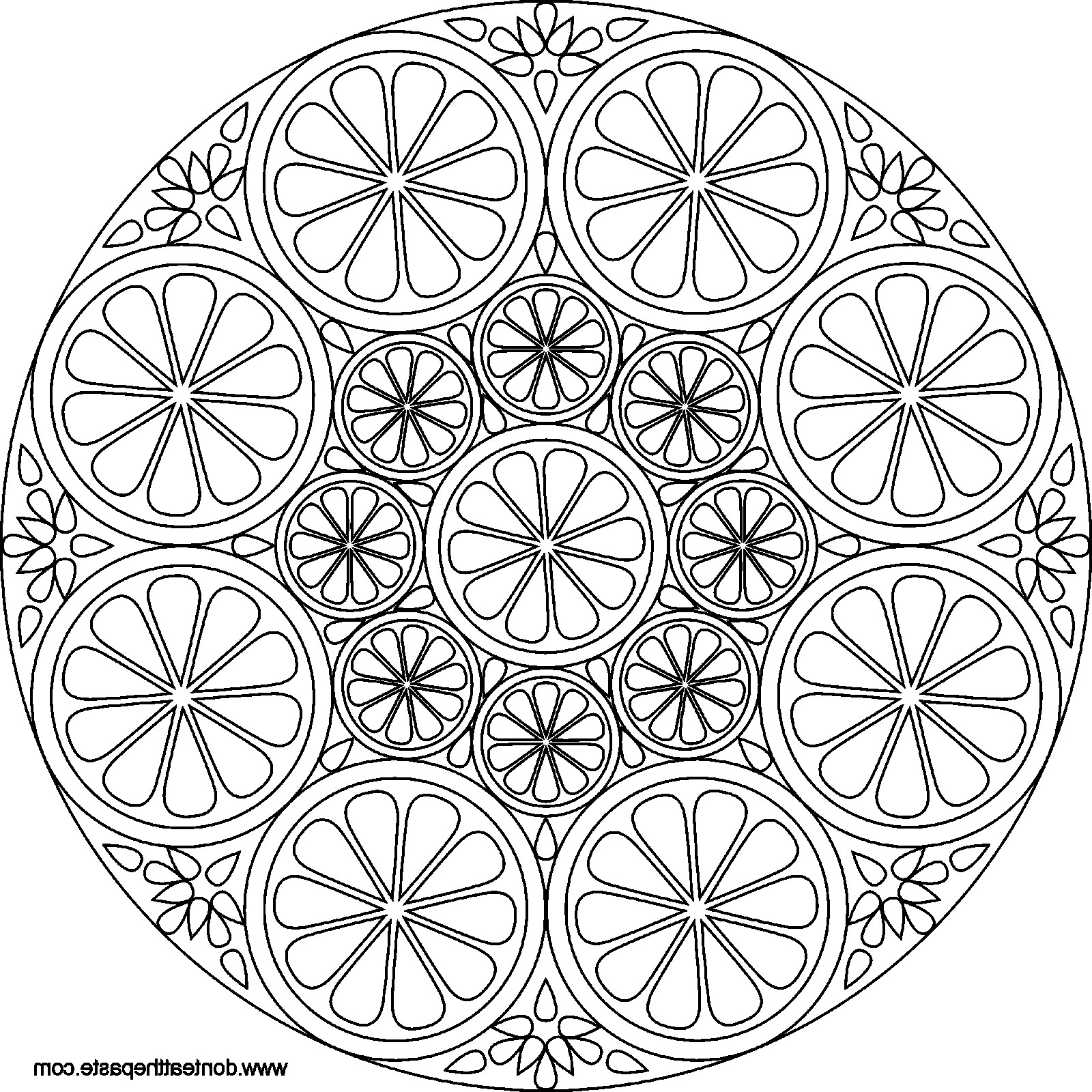 1600x1600 Magnificent Expert Level Mandala Coloring Pages With Simple