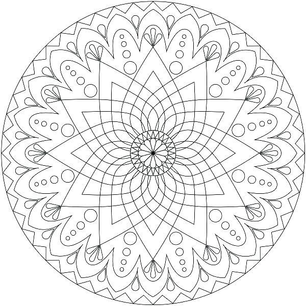 600x600 Mandala Coloring Books Detailed Mandala Coloring Pages Phone