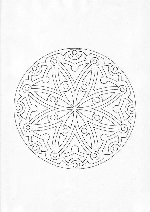 601x850 Mandala Coloring Pages Advanced Level