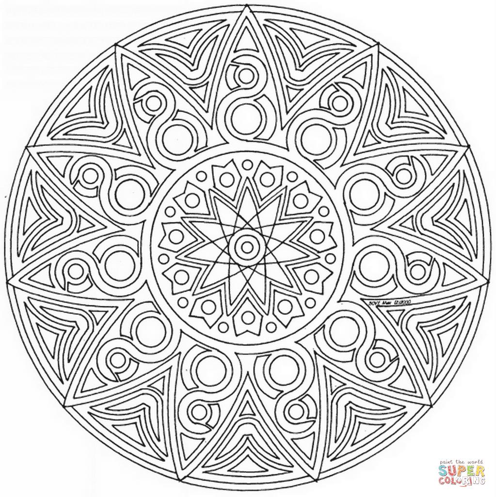 1023x1024 Mandala Coloring Pages Advanced Level Printable