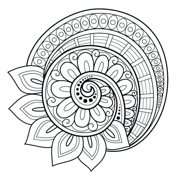 618x632 Mandala Coloring Pages Advanced Level Printable