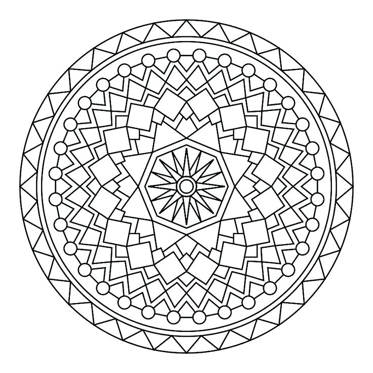 736x736 Mandala Coloring Pages Advanced Level Printable Advanced Coloring