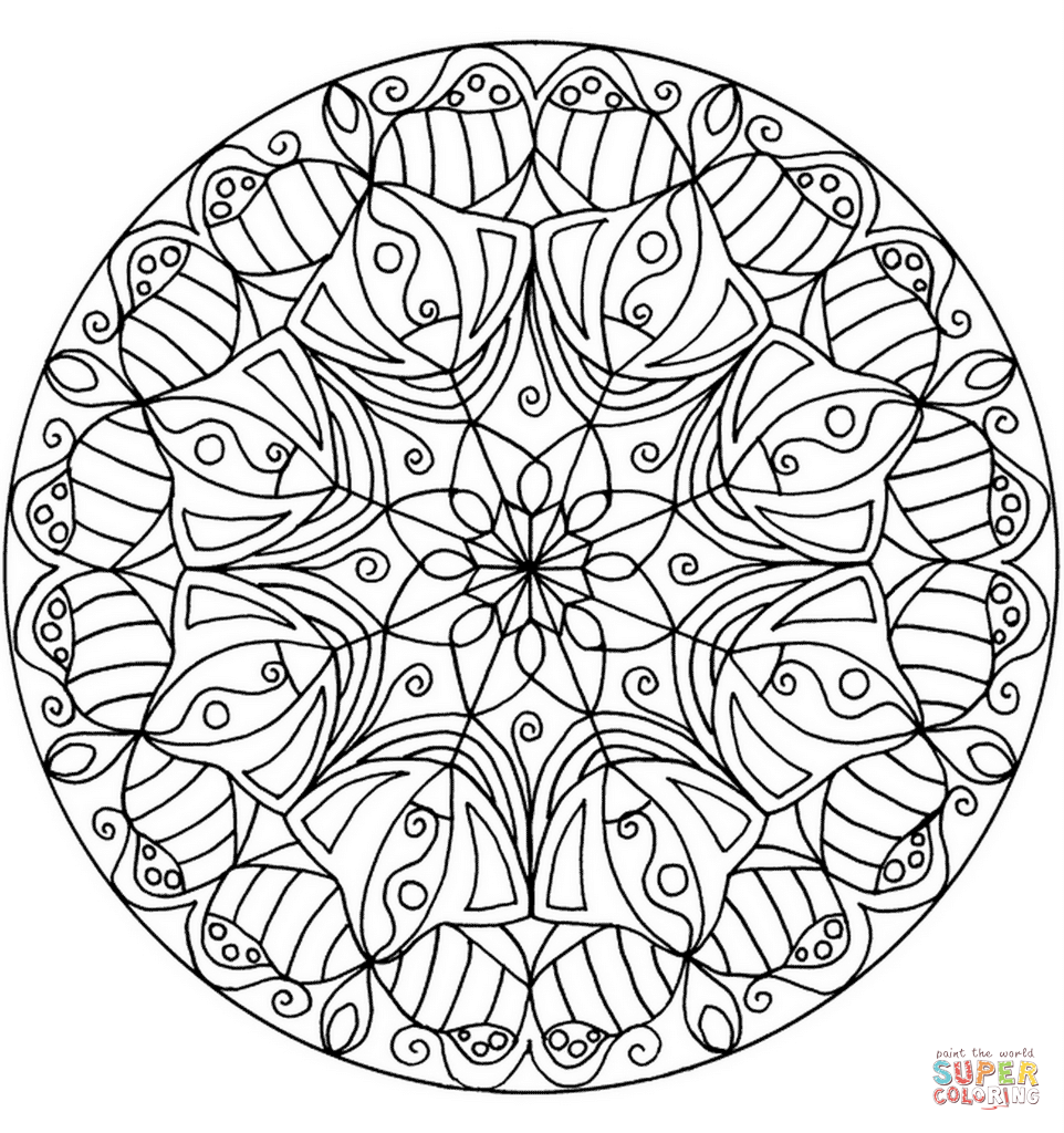 962x1024 Mandala Coloring Pages Advanced Level Printable World Of New
