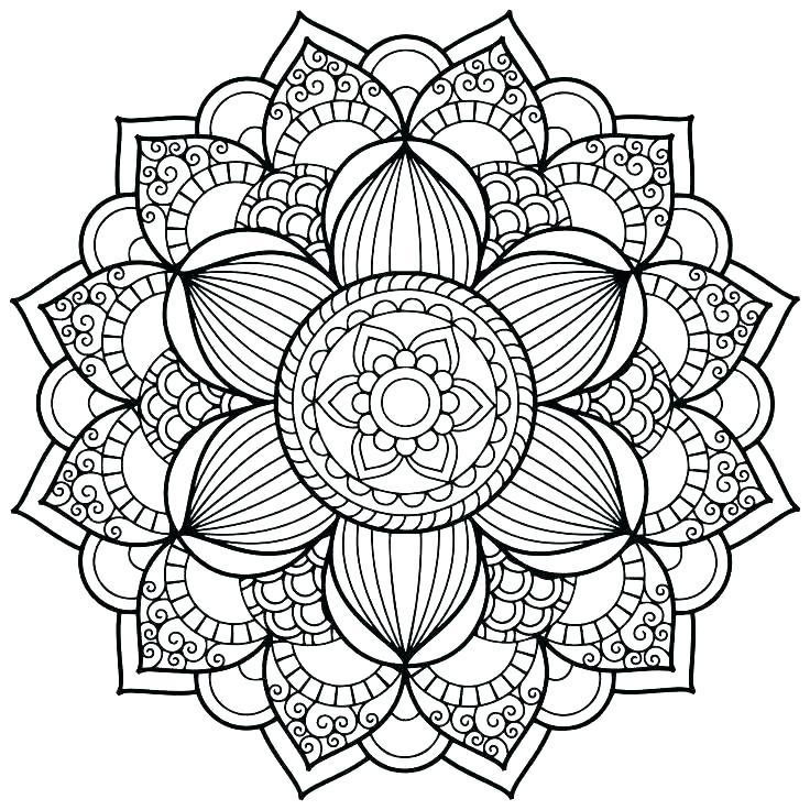 736x736 Mandala Coloring Pages Advanced Level Yin Yang Mandala