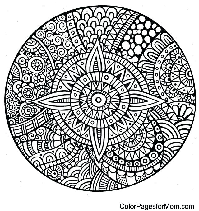 640x678 Mandalas Coloring Pages Good Mandalas Coloring Pages