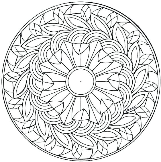 562x563 Advanced Mandala Coloring Pages Pdf Coloring Collection