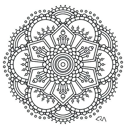 433x445 Mandala Coloring Pages Pdf