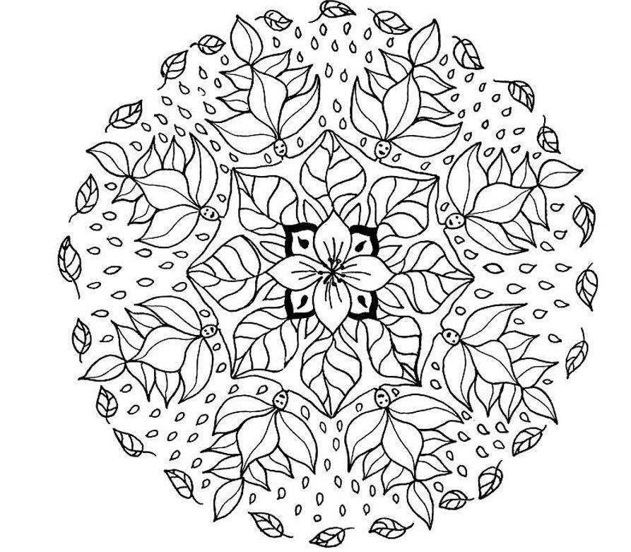 893x781 Mandala Print Free Mandala Coloring Pages Advanced Level Photo