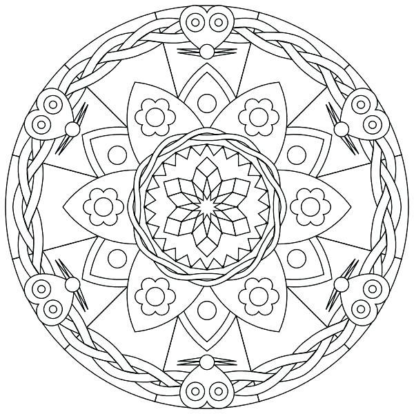 600x600 Advanced Mandala Coloring Pages Difficult Level Mandala Coloring
