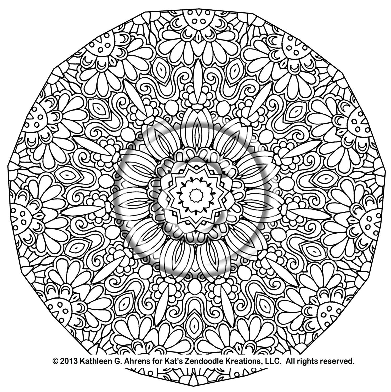 1495x1500 Advanced Mandala Coloring Pages Printable