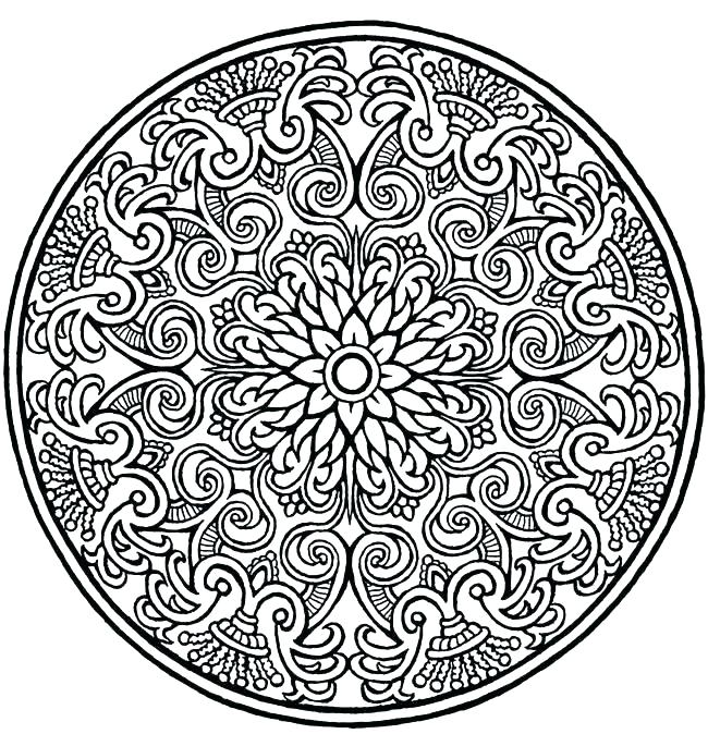 650x674 Advanced Mandala Coloring Pages Together With Mandala Coloring