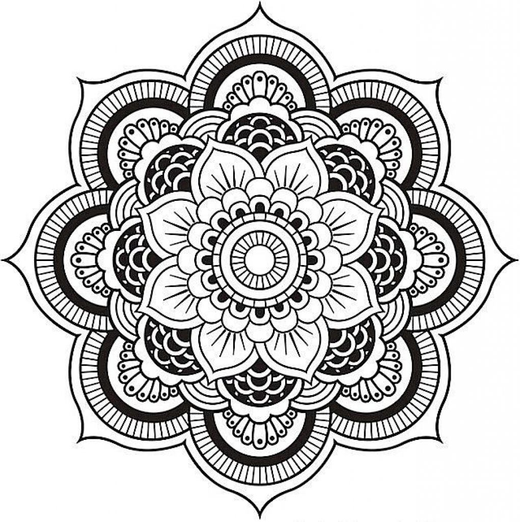1021x1024 Appealing Mandala Coloring Pages Advanced Level Image For Popular