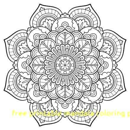 440x440 Mandalas To Color Free As Well As Personable Printable Mandalas