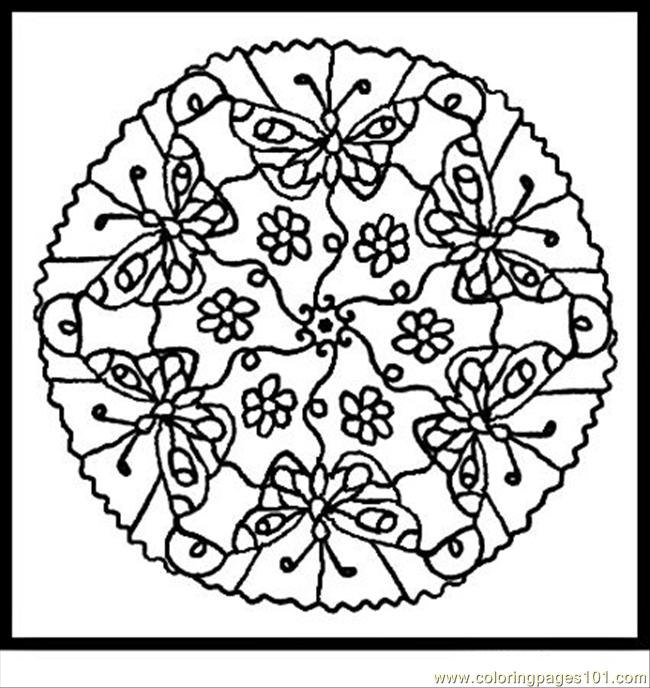 Mandala Coloring Pages Colored At Getdrawings Com Free For