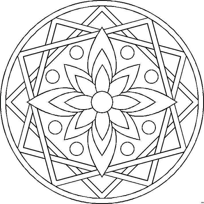 712x712 Expert Mandala Coloring Pages Mandala Coloring Pages For Kids