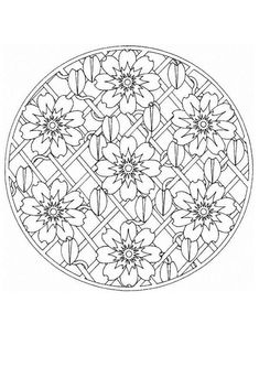 235x333 Mandala Coloring Pages Advanced Level Mandalas For Experts
