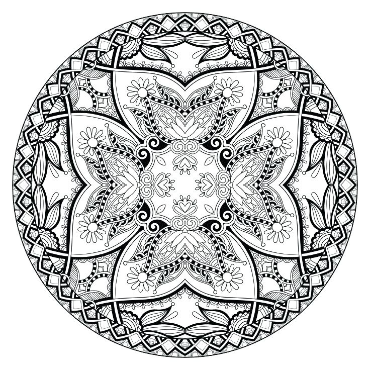 736x736 Mandala Coloring Pages Expert Level