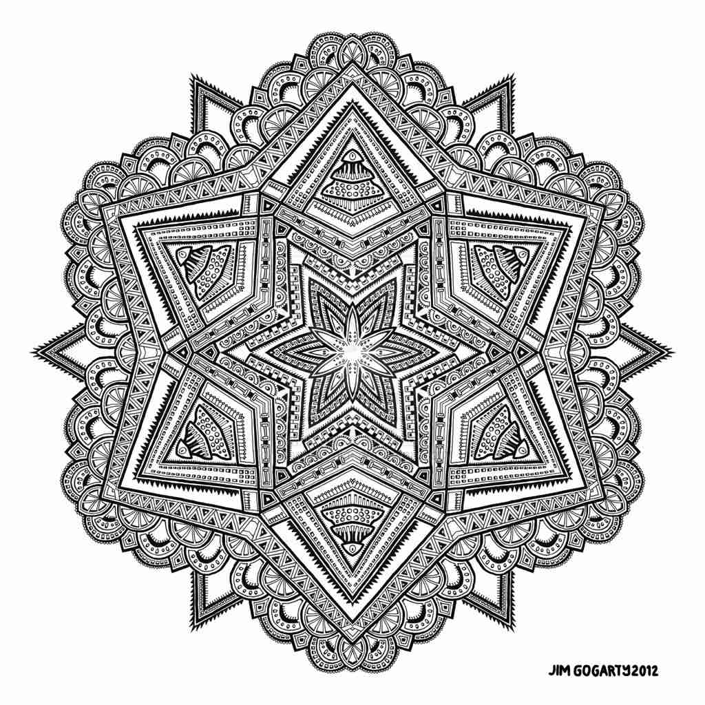 1024x1024 Mandala Coloring Pages Expert Level Olegratiy