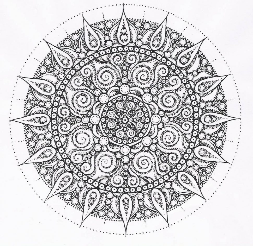 970x945 Mandala Coloring Pages Expert Level Advanced Rallytv Org Printable