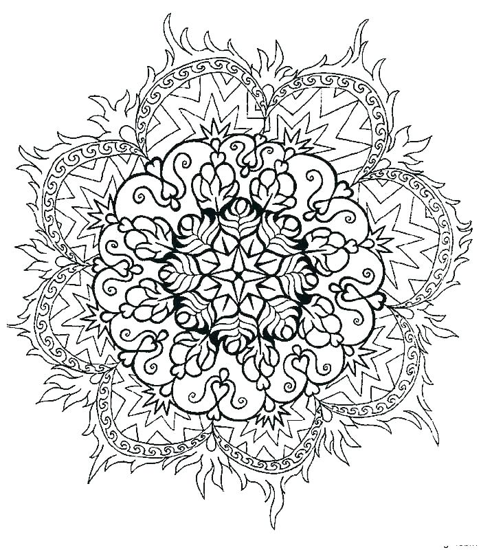 700x800 Mandala Coloring Pages Expert Level Hard Mandala Coloring Pages