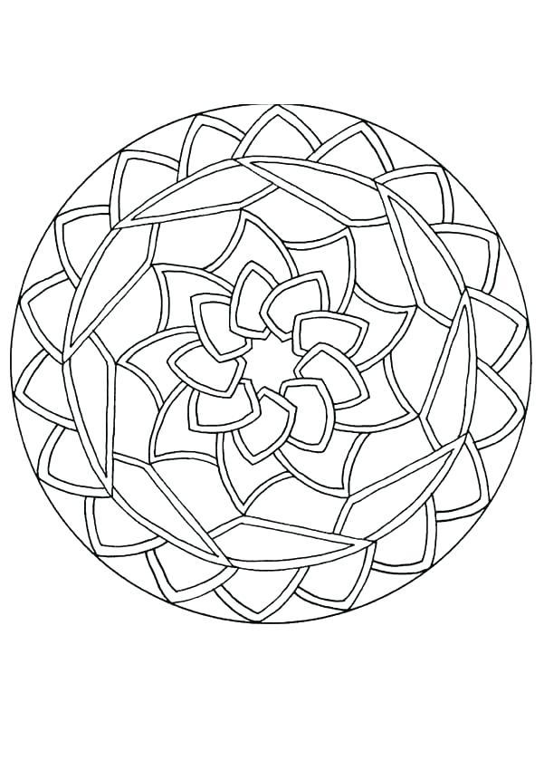 601x850 Mandala Coloring Pages Expert Level Mandala Coloring Pages