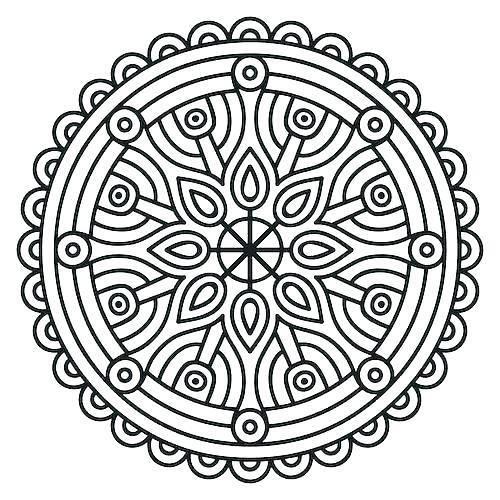 500x500 Mandala Coloring Pages Expert Level Mandala Printable Coloring