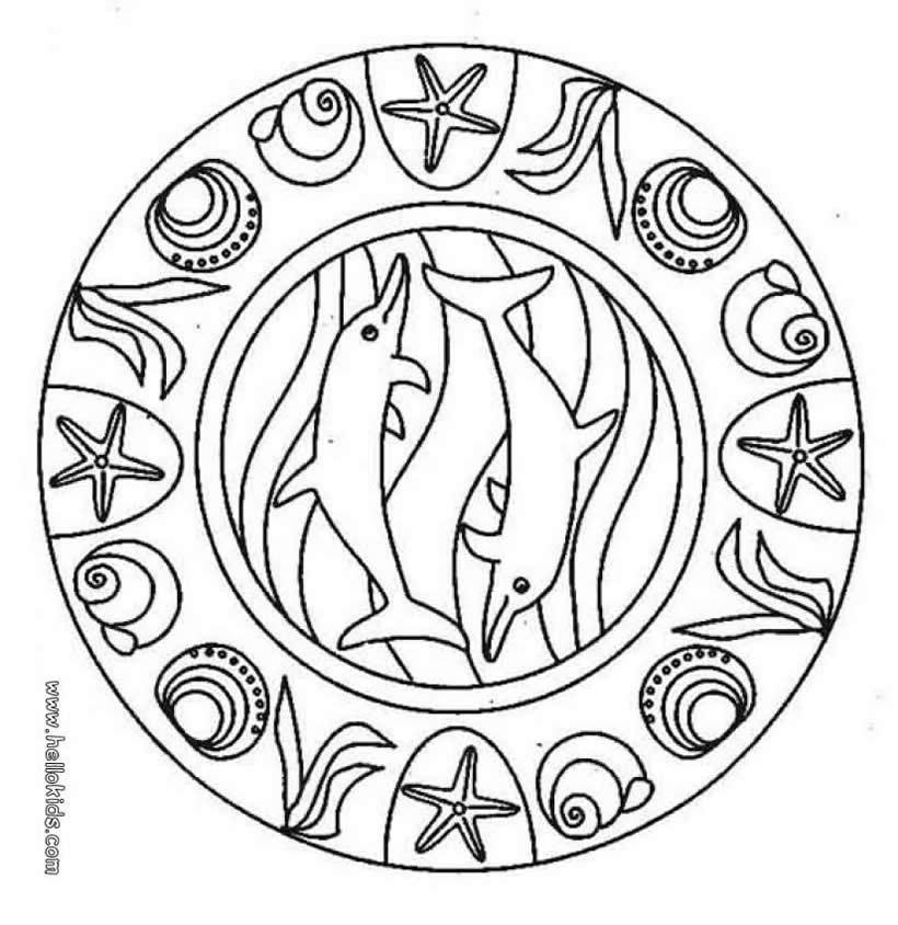 820x844 Mandala Coloring Pages Expert Level Unique Dolphin Mandala Source